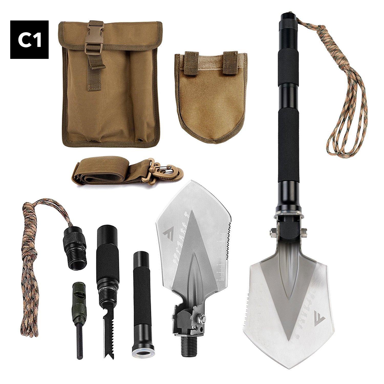 fivejoy, survival, multitool, shovel, emergency