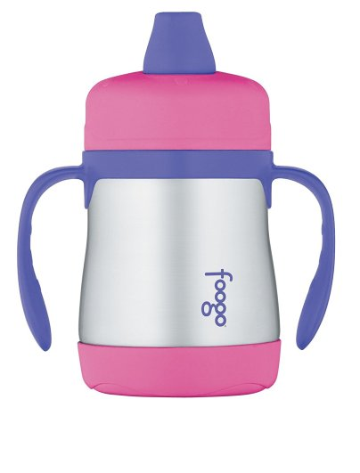 THERMOS FOOGO Vacuum Insulated Stainless Steel Soft Spout Sippy Cup with Handles, best bpa free sippy cups, bpa free sippy cups, stainless steel sippy cup, sturdy sippy cup, sippy cup with handles, sippy cup with soft spout, thermos sippy cup