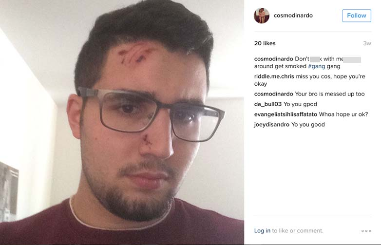 Cosmo DiNardo Instagram page