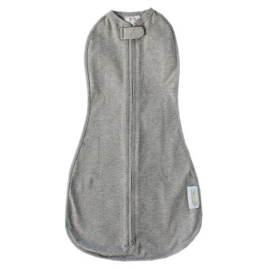 Woombie Original One-Step Baby Swaddle, best baby swaddle, baby swaddle, zipper baby swaddle, gray baby swaddle, swaddle sack