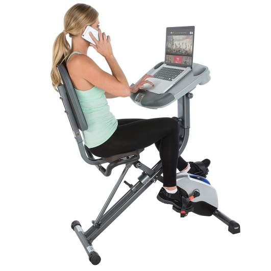 gifts for parents who have everything, exercise bike, bike desk, work desk