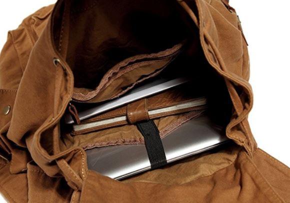 Kattee men's canvas Backpack, best mens weekend bag, best mens weekend luggage, best bag mens weekender