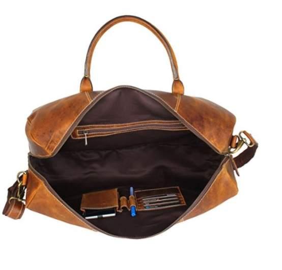 RusticTown Duffle Airplane Bag, best mens weekend bag, best mens weekend luggage, best bag mens weekender
