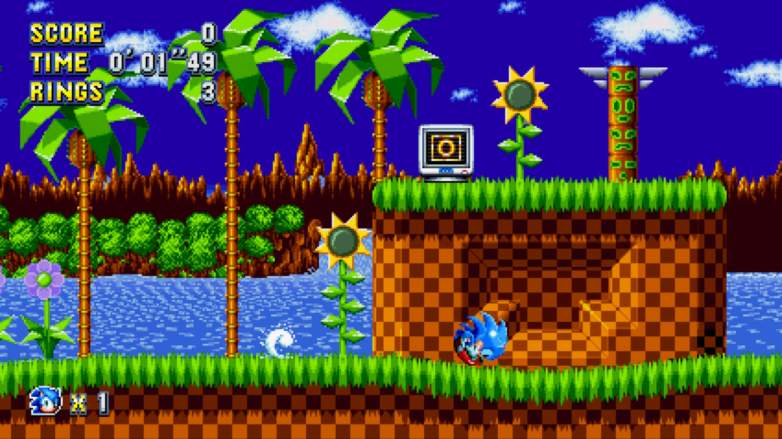 sonic mania drop dash, sonic mania how to drop dash, sonic mania