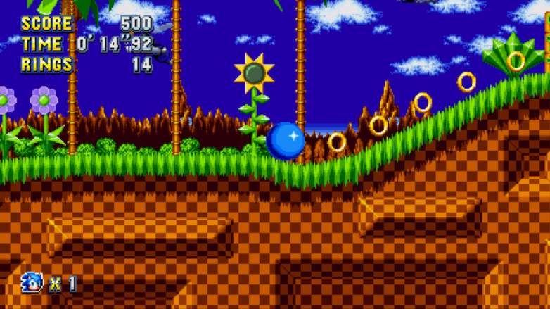 sonic mania green hill zone, sonic mania, sonic mania tips
