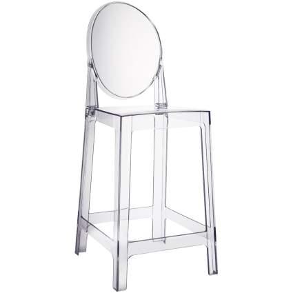 counter height bar stools, clear bar stools, modern bar stools