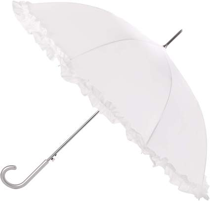 totes Women's Auto Open Ruffle Stick Umbrella