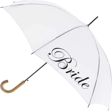 ShedRain Women's Script Bride Wedding Stick Umbrella