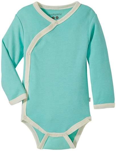 Babysoy Organic Long Sleeve Kimono Onesie Bodysuit