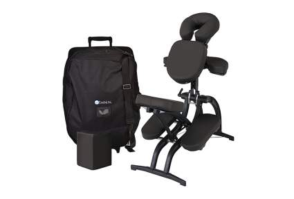 black massage chair with case