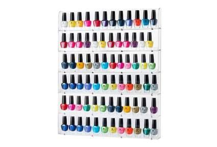 nail polish display, nail polish rack, nail polish wall rack, nail polish stand