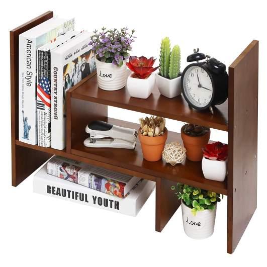 small bookcase, desktop bookcase