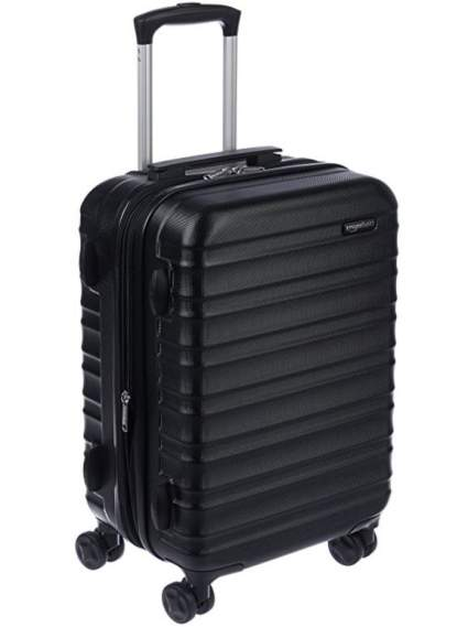 amazonbasics hardside spinner, best luggage air travel, best carryon airplane luggage, best luggage for carryon
