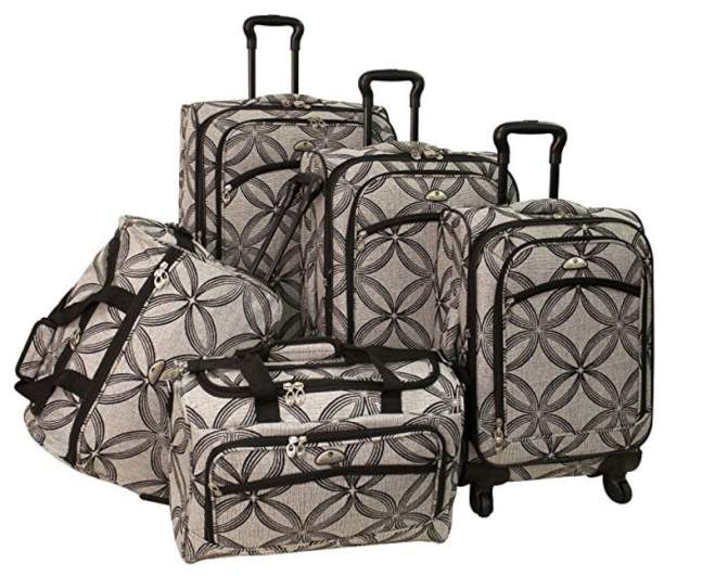 american flyer luggage set, best luggage set cheap, best affordable luggate set, cheap affordable luggage set