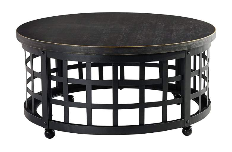 rustic coffee tables, metal coffee tables, round coffee tables