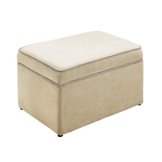 Baby Relax The Hadley Nursery Storage Ottoman for Baby Gliders, nursery ottoman, best nursery ottoman, ottoman, best ottoman, storage ottoman, plush ottoman, fabric ottoman, footrest, footstool
