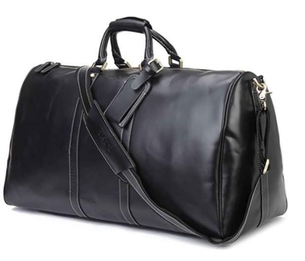 baigio leather duffle bag, best mens weekend bag, best mens weekend luggage, best bag mens weekender