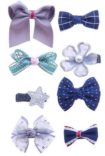 Belle Beau Baby Girls Ribbon Lined Alligator Hair Clips, best baby hair accessories, baby hair accessories, hair bow clips for babies, bows for babies, hair clips for babies, hair clips for girls, bow clips for girls, flower clips for girls, flower barrettes for girls, ribbon barrettes for girls