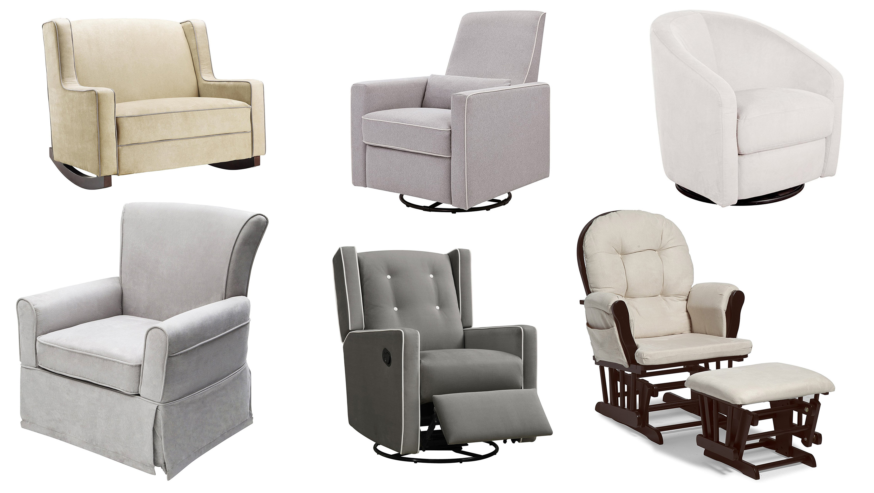 Image of: Top 10 Best Nursery Gliders Rocking Chairs Heavy Com