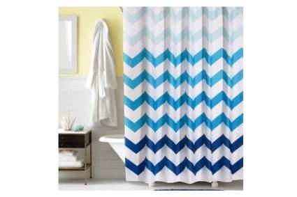 chevron shower stall curtain