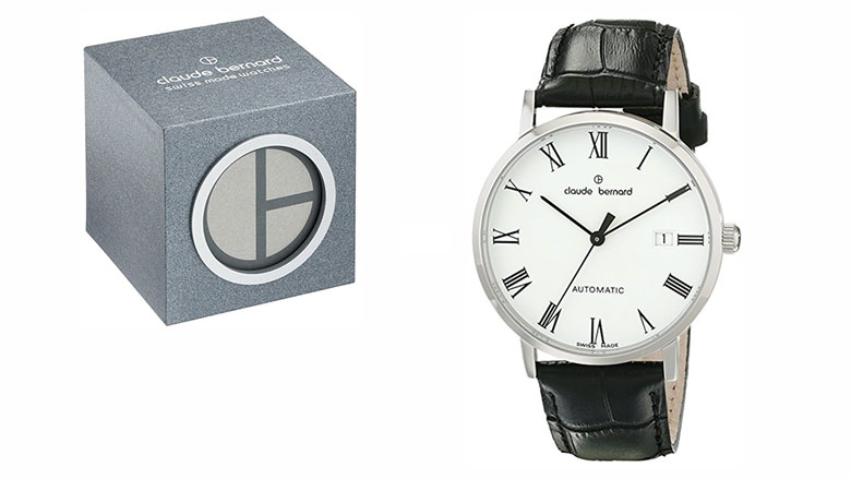 claude bernard mens 80095 classic automatic analog display swiss black watch