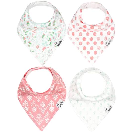 Copper Pearl Baby Bandana Drool Bibs for Drooling & Teething (Claire Set), drool bibs, teething bibs, drool bibs for girls, teething bibs for girls, pink drool bibs, best new baby products, new baby products