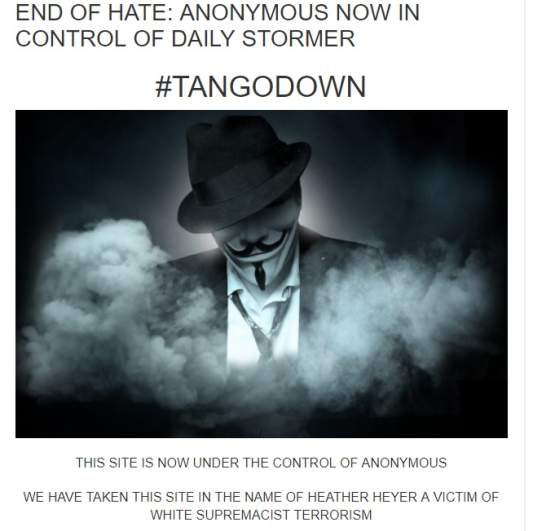 Daily Stormer hack, Anonymous hacked Daily Stormer, Daily Stormer