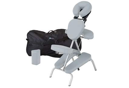 grey earthlite massage chair with travel bag