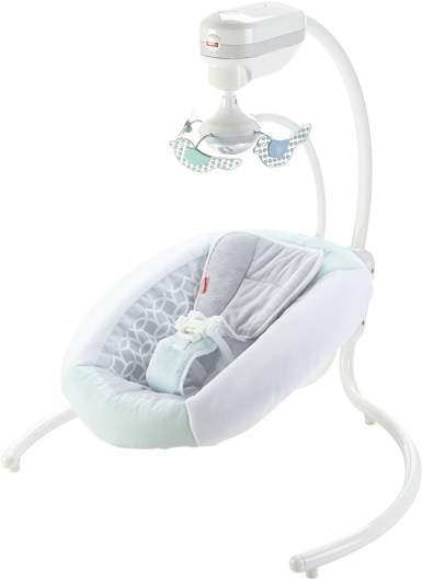 Fisher-Price Revolve Swing (Grey Mint), best new baby products, new baby products, best new baby swing, new baby swing, best baby swing, affordable baby swing, cute baby swing