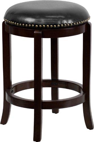 counter height bar stools, backless bar stools, dark bar stools