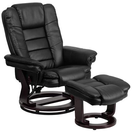 leather recliners, recliner with ottoman