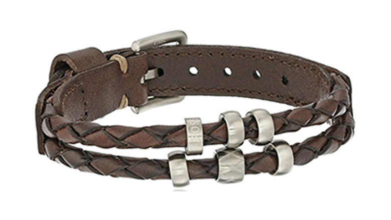 fossil retro pilot leather bracelet