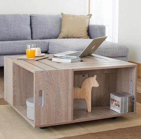 rustic coffee tables, crate coffee tables