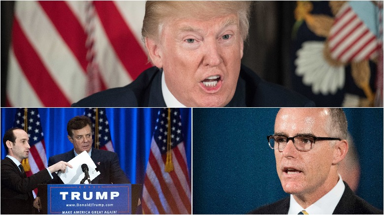 trump tweet mccabe, trump andrew mccabe, trump fbi director mccabe, trump manafort raid tweet