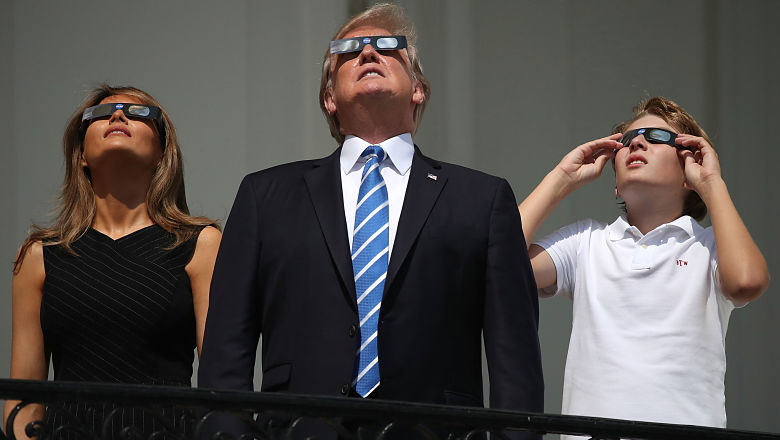 Donald Trump solar eclipse glasses