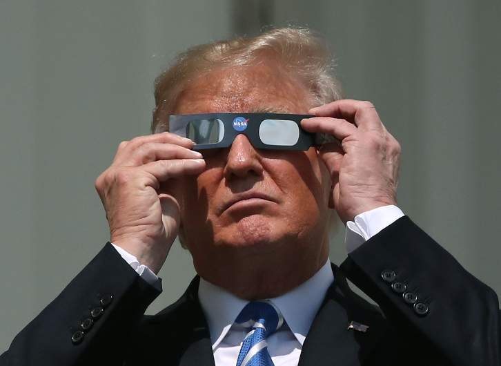 Donald Trump eclipse glasses