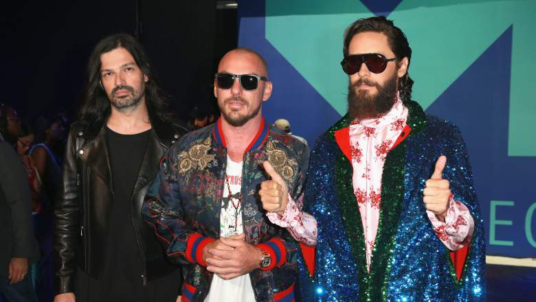 30 Seconds to Mars Red Carpet, 30 Seconds to Mars VMAs, Jared Leto 30 Seconds to Mars