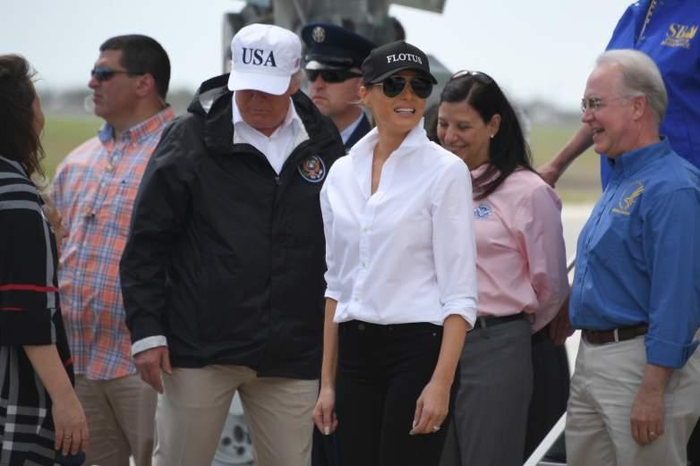 Trump Corpus Christi photos, Donald Trump Texas, Donald Trump Harvey
