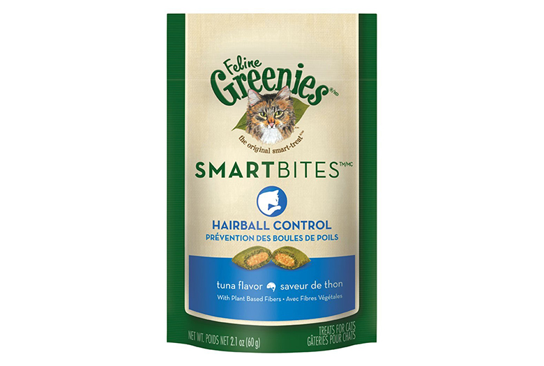Image of greenies smartbites hairball remedy for cats