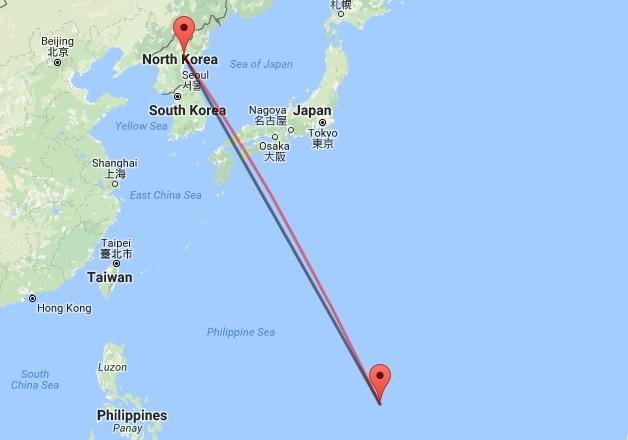 Guam North Korea distance, closest US Territory to North Korea, North Korea Guam