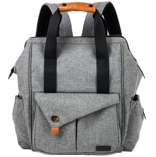 HapTim Multi-function Baby Diaper Bag Backpack with Stroller Straps, best diaper bags, diaper bags, best diaper bags for new moms, diaper bags for new moms, backpack diaper bag, diaper bag with stroller straps, affordable diaper bag, gray diaper bag, stylish diapber bag, travel diaper bag
