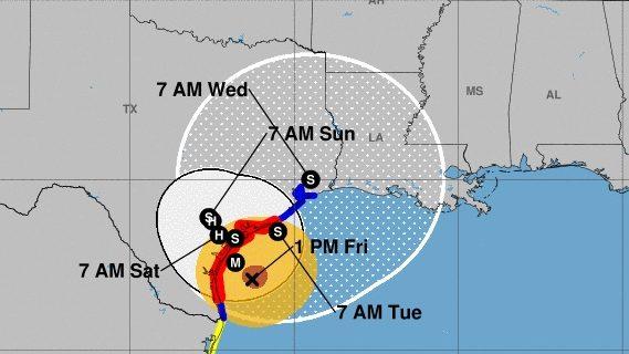 Hurricane Harvey path, Hurricane Harvey Mississippi, Biloxi Mississippi