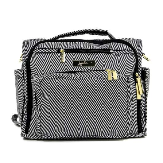 Ju-Ju-Be Legacy Collection B.F.F. Convertible Diaper Bag, best diaper bags, diaper bags, best diaper bags for moms, diaper bags for moms, shoulder diaper bag, messenger diaper bag, convertible diaper bag, black and white diaper bag,
