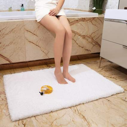 bathroom rugs, luxury bathroom rugs, thick bathroom rug, plush bathroom rug