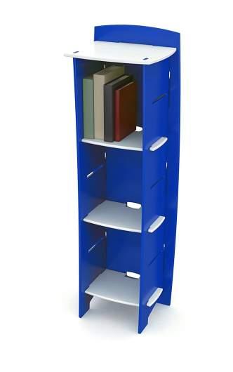 small bookcase, bright bookcase, colored bookcase