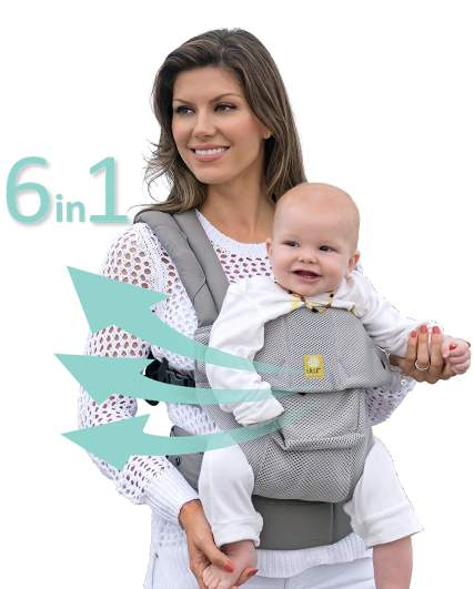 Lillebaby The Complete Airflow 360° Ergonomic Six-Position Baby & Child Carrier, baby carrier, best baby carrier, structured baby carrier, convertible baby carrier, baby carrier backpack