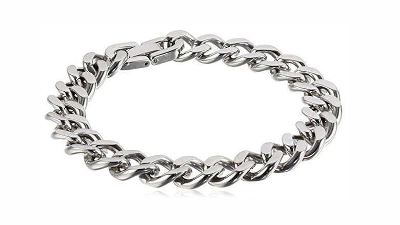 mens stainless steel curb chain bracelet