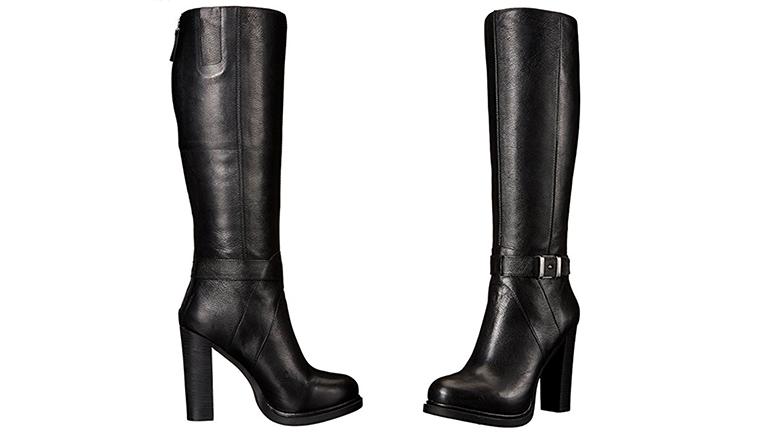 womens tall dress boots low heel