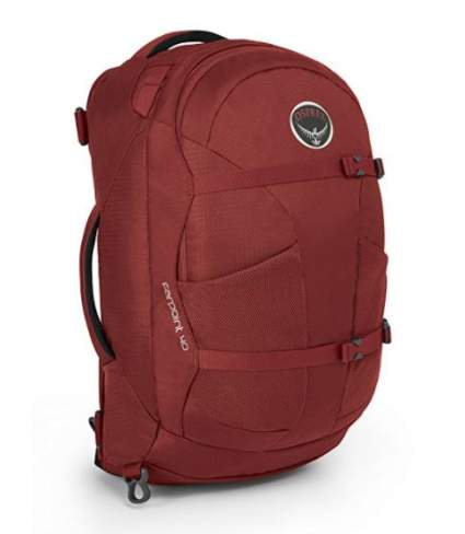 Osprey Fairpoint Travel Backapck, best luggage air travel, best carryon airplane luggage, best luggage for carryon