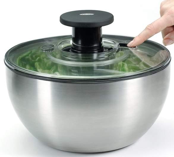 salad spinner, stainless steel salad spinner